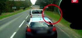Polski kierowca nie odpuścił gościowi ze Wschodu. Wideo z kamerki samochodowej
