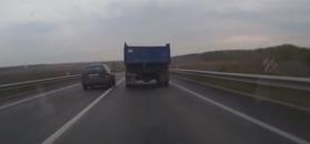 Niecierpliwy kierowca powoduje kolizję. Autor nagrania uczestniczył w wypadku