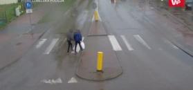 Potrącił dwóch nastolatków i uciekł. Policja publikuje nagranie