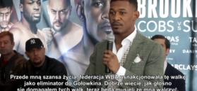 Daniel Jacobs z uznaniem o Macieju Sulęckim