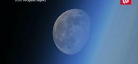 Niezwykły widok z ISS. Księżyc jakby się rozpadał