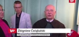 Zbigniew Ćwiąkalski milczeniu Tomasza Komendy
