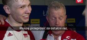 Vital Heynen przerwał wywiad z Jakubem Kochanowskim.