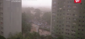 Czwartkowe burze w Polsce. Nagrania internautów