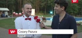 Cezary Pazura z sentymentem o pracy na planie z córką Bogusława Lindy.