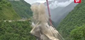 Wyburzenie mostu w Kolumbii