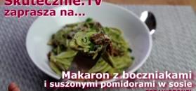 Przepyszny makaron z boczniakami