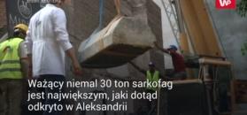 Aleksandria: otworzyli sarkofag z czarnego granitu