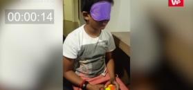 Ma 10 lat. Z zamkniętymi oczami ułożył kostkę Rubika w 27 sekund