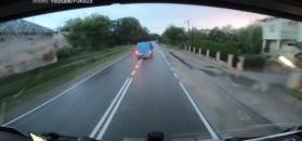Kierowca busa złamał przepisy. Policja stała nieopodal