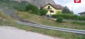 Szwajcarskie miasteczko zalane błotem. Nagranie świadka