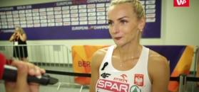 Justyna Święty podbudowana półfinałem.