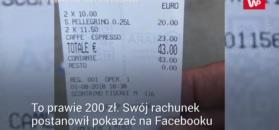200 zł za dwie kawy. Turyści w Wenecji oburzeni rachunkiem