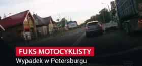Fuks motocyklisty. Nagranie z kamerki samochodowej