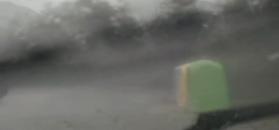 Ulewa nad Krakowem - szkwał burzowy