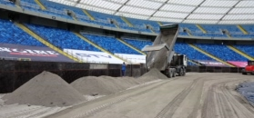 Na Stadionie Śląskim powstaje tor żużlowy