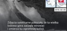 Niebezpieczna podróż góry lodowej