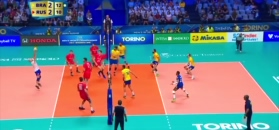 #dziejesiewsporcie: niesamowita akcja w meczu Brazylia - Rosja