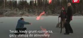 Wybuchowe jezioro. Wydziela tyle metanu, co 6 tys. krów