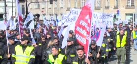 Wielka manifestacja służb mundurowych w Warszawie