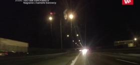 A2 pod prąd. Autor nagrania uciekł w ostatniej chwili