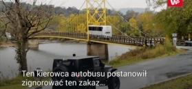 Autobus wjeżdża na most. Nagranie świadka mrozi krew w żyłach