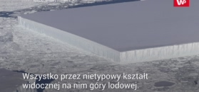 Sensacyjny kształt góry lodowej już nie taki sensacyjny. NASA publikuje więcej zdjęć