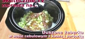 Duszone żeberka w pysznym sosie cebulowym