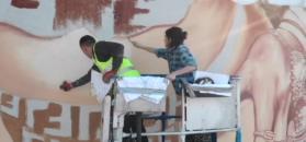 Nicki Minaj - wielki mural w Warszawie