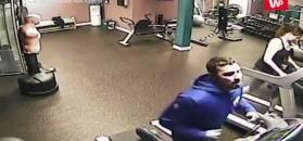Wypadek na siłowni okiem kamery