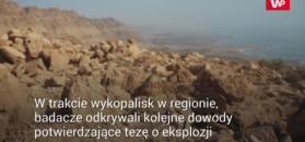 Wybuchający meteoryt mógł  zniszczyć starożytną społeczność znad Morza Martwego