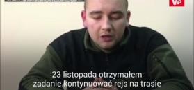 Nagranie z przesłuchania ukraińskich marynarzy. Media: zostały wymuszone
