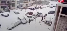 """""""Ale urwał"""" w Sarajewie. Nagranie świadka"""