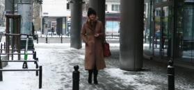 Zimowa Grażyna Torbicka paraduje w futrze