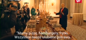 Trump młodym sportowcom podał na obiad fast food.