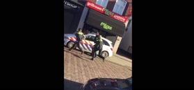 Agresywny napastnik zatrzymany w Holandii. Krzyczał po polsku