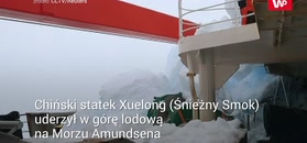 Kolizja lodołamacza u wybrzeży Antarktydy