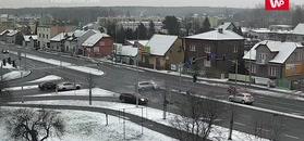 Wypadek na skrzyżowaniu w Jaworznie. Nagranie monitoringu