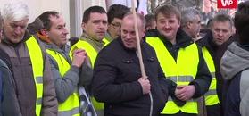 Protest rolników w Warszawie.