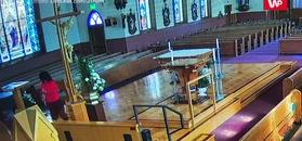 Wandalizm w kościele. 23-latkę nagrała kamera