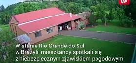 Microburst porwał dach. Nagranie z Brazylii