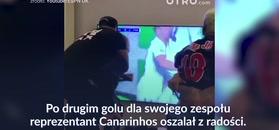 #dziejesiewsporcie: szalona radość Neymara. Przed telewizorem