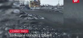 Mroczna zima na Syberii.