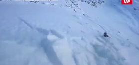 Uwaga, lawina. Nagranie szwajcarskiego narciarza