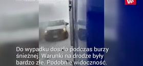Karambol na 40 aut. Świadek bał się wyjść z szoferki