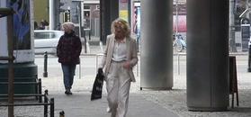 Gessler w kremowym garniturze pośpiesznie opuszcza TVN