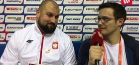 HME Glasgow 2019. Michał Haratyk słuchał hymnu i odbierał medal... w korytarzu.