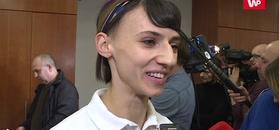 Anna Kiełbasińska w szoku po złocie sztafety.
