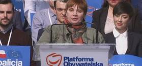 Ochojska na konwencji: trzeba było mnie wnieść na podium