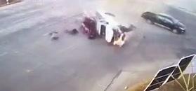 Przerażające nagranie wypadku na skrzyżowaniu